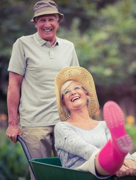 A couple enjoys life after getting dentures